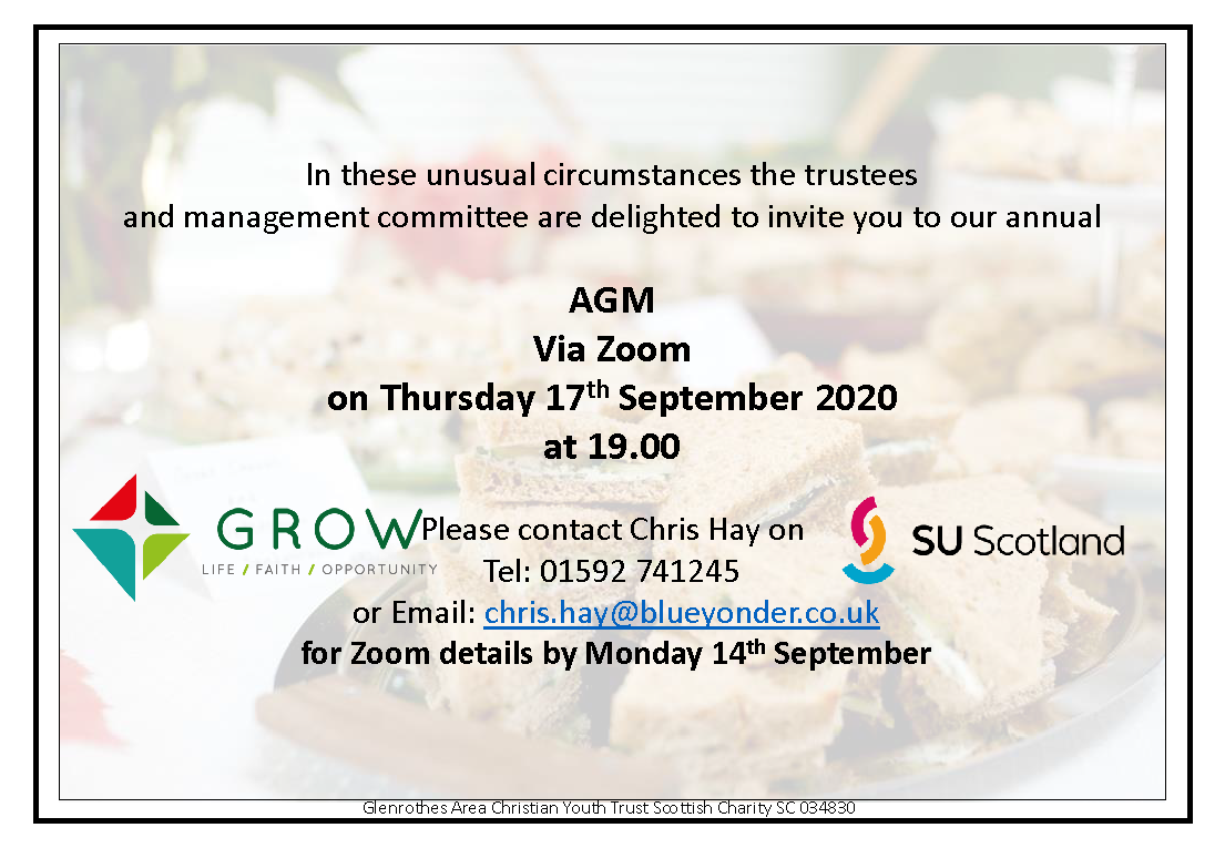 AGM Invitation - text of the invitation is below